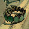 Fashion Oil Dripping Palace Green Bracelet - BLUE HOSTA