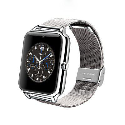 Inteligentní Bluetooth Watch Metal Strap Podpora Sim TF Card pro Android