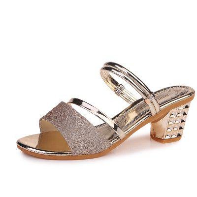 One Shoe And Two Summer Sandals For Women
