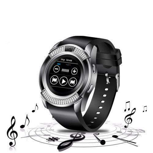 V8 SmartWatch Bluetooth Wrist Watch Touch Screen With Camera Support SIM TF  Card