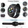 V8 SmartWatch Bluetooth Wrist Watch Touch Screen With Camera Support SIM TF Card - BLACK