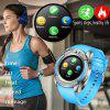 V8 SmartWatch Bluetooth Wrist Watch Touch Screen With Camera Support SIM TF Card - SKY BLUE