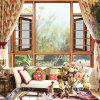 Removable Fashion Flowers Pattern PVC Window Film Wall Sticker Matte - MULTI