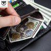 BULLCAPTAIN Leather Men's Multi-Card Album Position Can Split The Coin Purse - BLACK