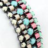 Colorful Beads Braided Bracelet - GUNMETAL