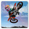 Soft Rubber  Beautiful  Patterned  Multicolor  Gaming  Square  Mouse Pad - MULTI