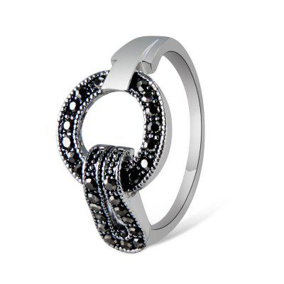 Silver Plated Ring with Zircon Ring