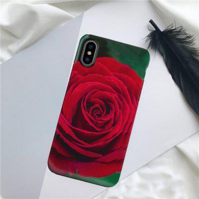 Red Rose TPU Protective Flexible Soft Case for iPhone X