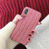 JUST IDEA Red and White Woolen Fine Grain Phone Case for iPhoneX/XS/XSMAX - MULTI-A