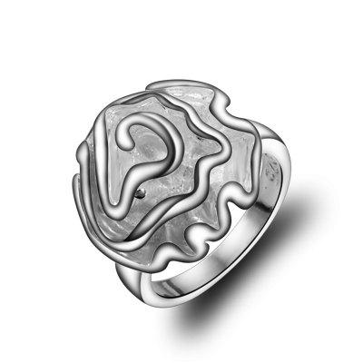 Women'S 925 Silver Plated Ring Popular Rose Ring