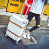 MATOM Deluxe Leather Belt with Double-Sided Aluminum Frame Suitcase - WHITE