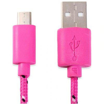Cool Nylon Fabric Round Data Charging Cable 3 Meters