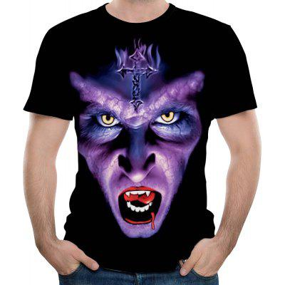 New Fashion 3D Printing Anime Funny Short T-Shirt
