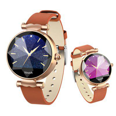 Fashion Lady Smart Watch 3D Rhinestone Glass Heart Rate Blood Pressure Watch Image