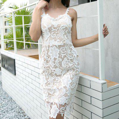 The Temperament of The Famous Lady Sling Self-Cultivation Lace Dress