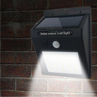 BRELONG 25LED Solar Induction Wall Light Outdoor Courtyard Corridor Czarny 12-cz