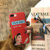 Makeup Girl Red Protective Flexible Case for iPhone 7Plus/8Plus - MULTI