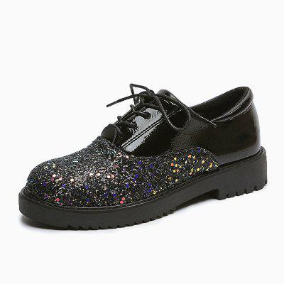 Belt Drill Comfortable Womens Single Shoes
