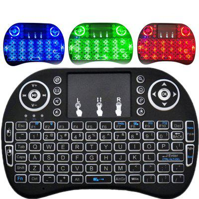 2.4GHz Wireless QWERTY Keyboard with Touchpad Mouse  - Russian Version