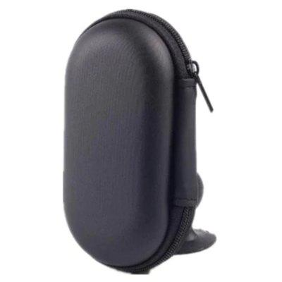 Black  Portable Storage Bag Case for Earphone and Headphone