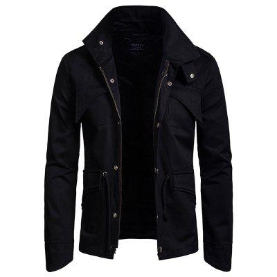 New Man Fashion Spring Winter Cotton Blend Solid Casual Jacket Coat YW417