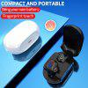 Touch Control Headset TWS True 5.0 Bluetooth Earphone Hifi Sound Earbuds - WHITE