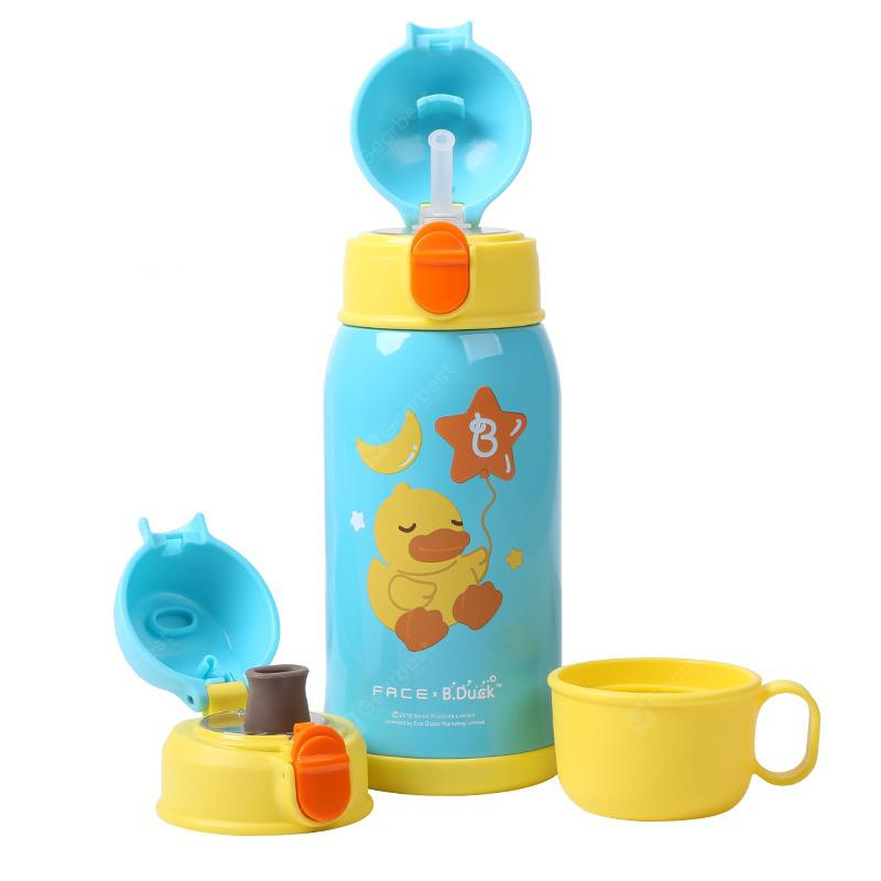 B.Duck Children Thermal Bottle with 3 Lids - Celeste