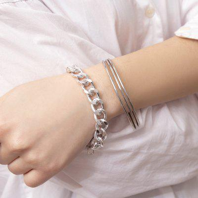 Simple Glossy Exaggerated Chain Set Bracelet