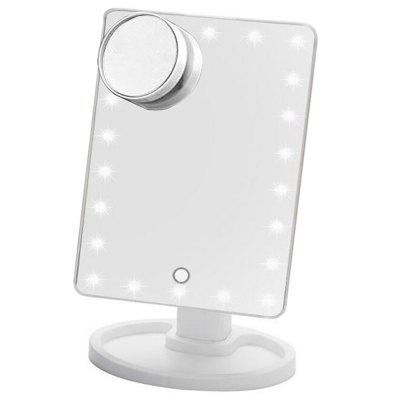 Dimmable LED Make Up Mirror 22 Light Bulbs  with 10x Magnifying