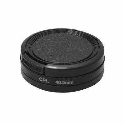 40.5mm Integral CPL Filter for GoPro Hero 4 3+ Black Silver Camera with Lens Cap
