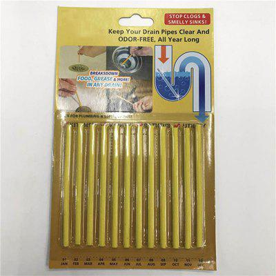 12PCS/ Set Cleaing Sticks Keep Your Drains Pipes Clear And Odor Home Cleaning
