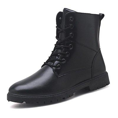 Men Fashion Lace Up Casual Shoes Man Ankle Boots