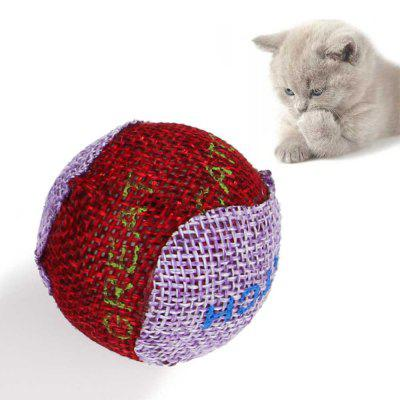 3 Pieces The Cat USES A Printed Cloth Ball Decompression Sound Production Toys