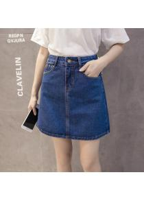 fbe599c23e Cultivate One'S Morality Cowboy Short Skirt of Tall Waist A Word
