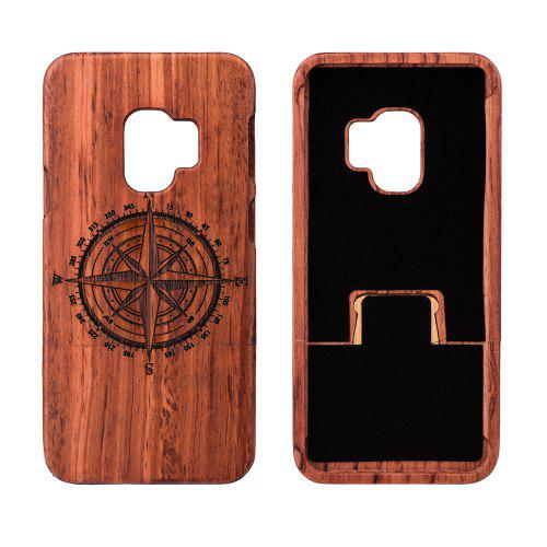Compass Pattern Wooden Phone Case for Samsung S9