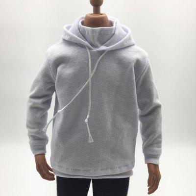12-inch movable doll model clothing male white hoodie