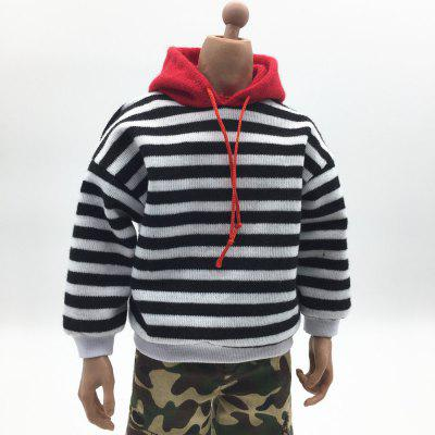 1/6 film and television model soldier costume striped hooded sweater