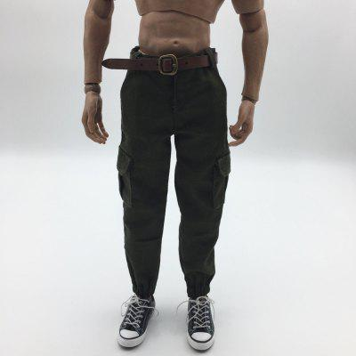 1/6 film and television model clothing army green casual pants