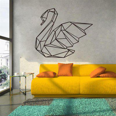 Geometry Goose Wall Stickers Removable PVC Art Vinyl Living Room Home Decoration