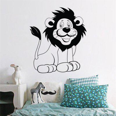 Customized Cartoon Lion Decorative Wall Stickers Kids Room Cute Bedroom Decals