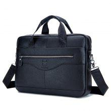 78b94a0367 BULLCAPTAIN Men s Messenger Bag Leather Multifunction Portable Briefcase
