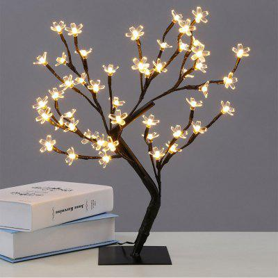 Simulation 48LED Desktop Cherry Tree Branch Décoration Atmosphère Lampe EU