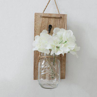 Mason Jar Sconces Hydrangea Flower LED Strip Lights Design Home Kitchen Dec