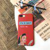 Red Dress Girl Protective Flexible Soft Case for iPhone 7Plus / 8Plus - MULTI