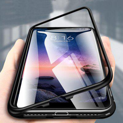 Magnetically Adsorbed Tempered Glass Flip Case for Xiaomi Redmi Note 6 Pro