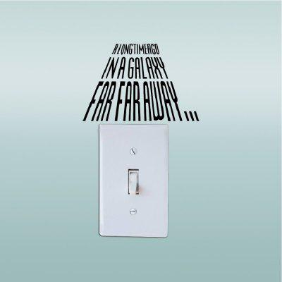 Removable Mural Light Switch Sticker Vinyl Art Wall Decal Home Decoration