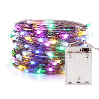 5M 50leds USB  AA Battery Case Fairy String with Automatic Change of 7 Color