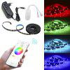 Smart Wireless APP Epoxy Waterproof RGB 5050 Lampada flessibile con 2M 60 LED 5V EU - NERO