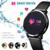 Q8 Smart Watch OLED Color Screen Smartwatch women Fashion Fitness Tracker Heart - BLACK