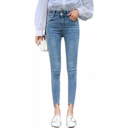 Taille Haute Morality Cultiver PantsBleu One's M Pieds Pencil bf7g6yvIY